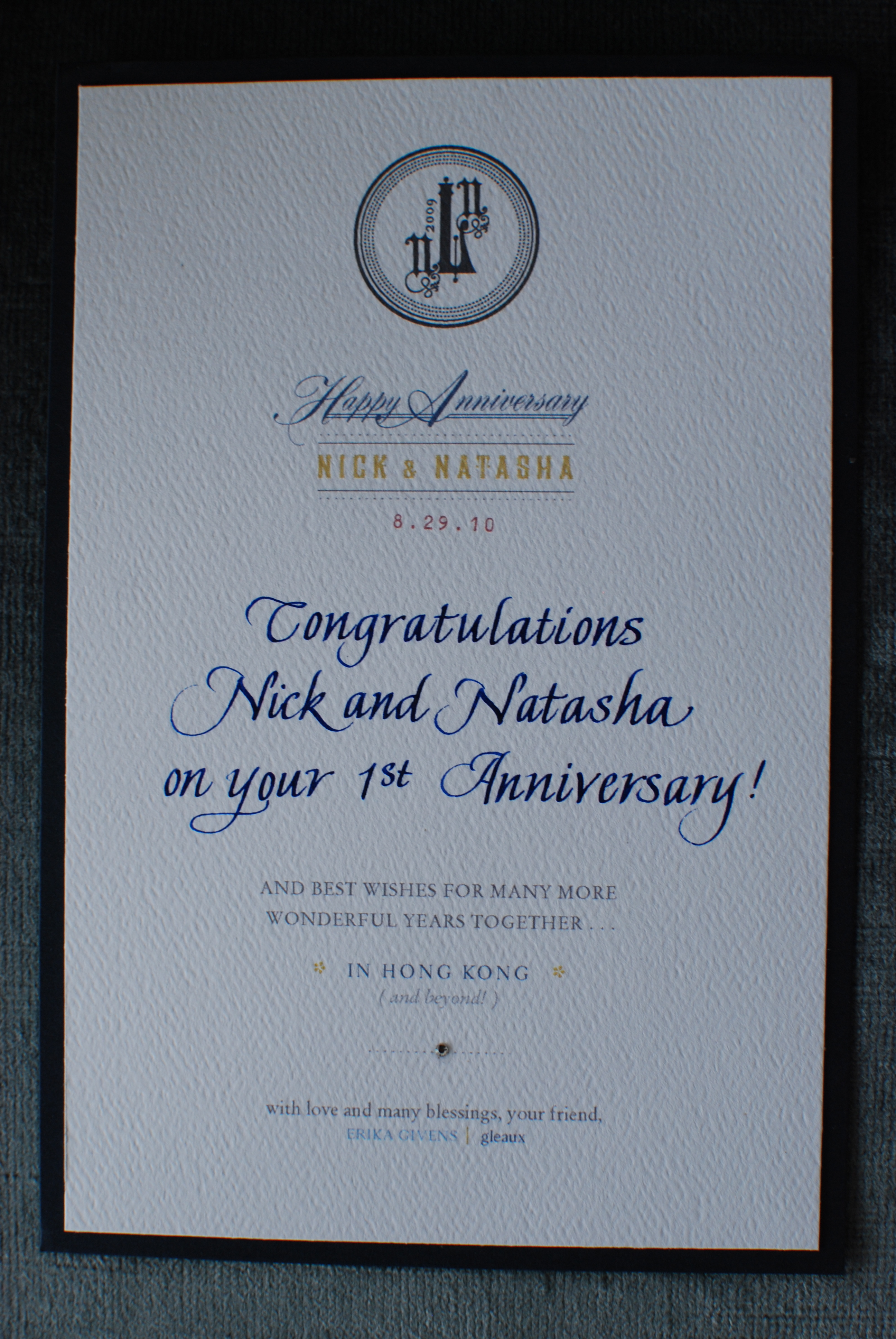 Incredible anniversary card or in my case since i know papineau calligraphy really well as michelle did my wedding calligraphy and i think stopboris Gallery